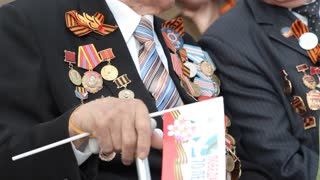 Veterans Of World War II, military medals, military parade. Victory Day