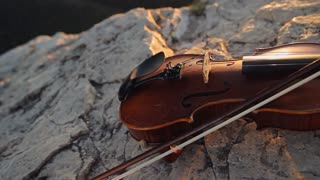 Violin On The Rock