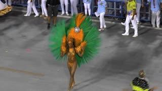 Brazilian Dancer on The Rio Carnival