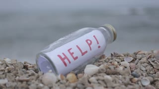 Call for help on paper in a bottle