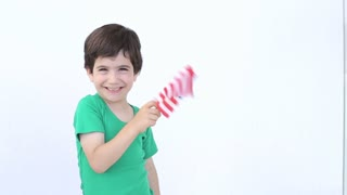 Child with the USA flag