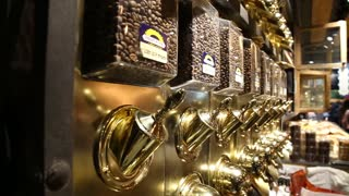 Coffee beans store display