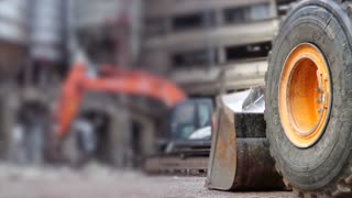 Construction With Selective Focus And Blurred Background