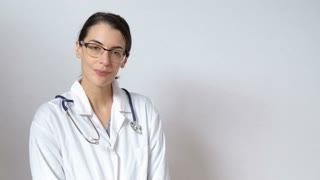 Doctor recommending advertise