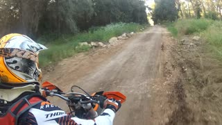 Extreme Off-road motorcycle riding