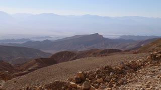 Panoramic view of Jordan and Israel desert mountains