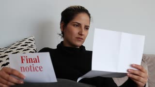 Shocked Woman Receives Final Notice Letter
