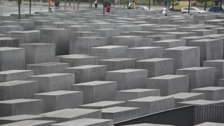 Shot of Holocaust Memorial, Berlin