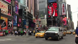 Shot of Long static view of Times Square