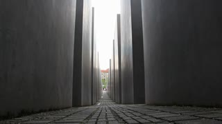 Shot of Memorial to the Murdered Jews of Europe
