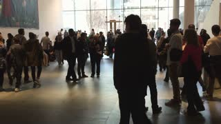 Shot of Editorial clip of People in the MOMA with audio