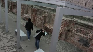 Shot of Gestapo and SS headquarters ruins