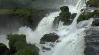 Shot of Iguazu Falls top view with audio