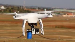 UAV with camera take off