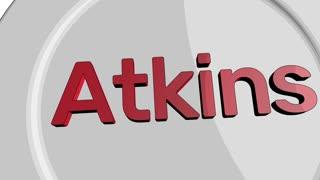 Atkins diet concept cartoon clip