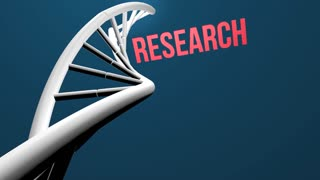 DNA research concept animation