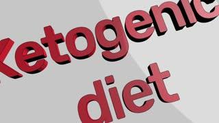 Ketogenic diet concept cartoon clip