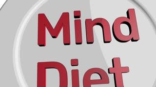 Mind diet concept cartoon clip