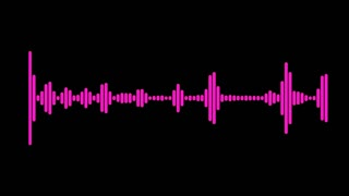 Pink audio spectrum waveform animation