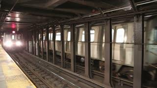 Subway train with audio in NY
