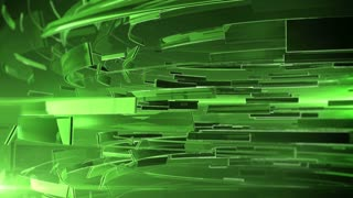 3d abstract business sphere. Green color and DOF.