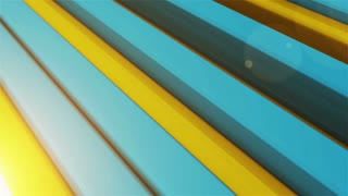 3d rendering of Animation of colorful striped background.