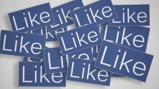 A lot of like buttons. Social media concept.
