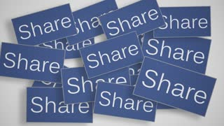 A lot of Share buttons. Social media concept.