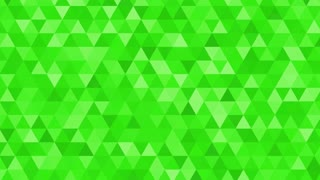 Abstract animation with flashing triangle