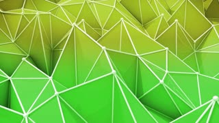 Abstract background of green and yellow triangles