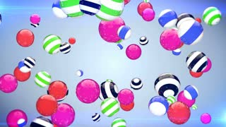 Abstract background with rotating multi-colored balls