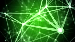 Abstract network background. Seamless Loop. green