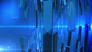 Abstract Technology Background with lens flare. Blue colors.