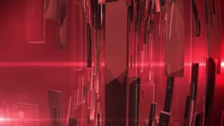 Abstract Technology Background with lens flare. Red colors.