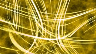Abstract yellow energy background of light rays in wavy motion