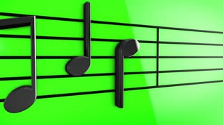 Animation of Music notes on staves