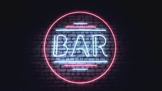 BAR, CASINO and XXX neon signs