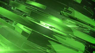 Beautiful Green 3d animation of abstract background.