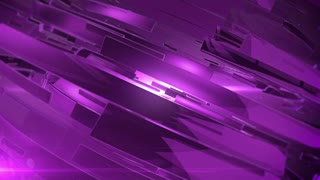 Beautiful Purple 3d animation of abstract background.