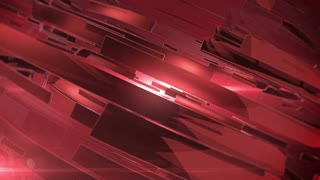 Beautiful Red 3d animation of abstract background.
