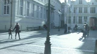 BRUGES, BELGIUM: Panorama of Bruges center.