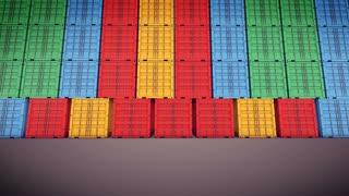Cargo Container is Opening Doors