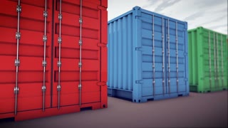 cargo containers in a row