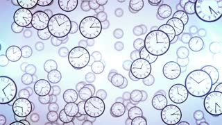 Clock face animation. Business concept.