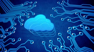 Cloud computing concept: circuit board with Cloud.