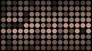 Colored Dots blinking On Black.