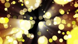Glitter gold light. Loop.