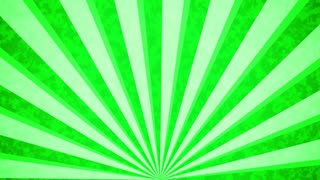 Green Sun burst retro background