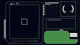 Interface HUD. Scanning human fingerprint.