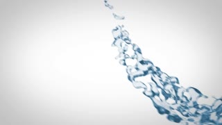 Liquid flow on white background